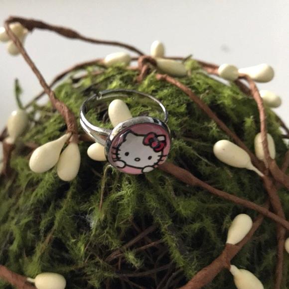 197a320b8 Jewelry | Hello Kitty Adjustable Silver Ring Girls Nwt | Poshmark